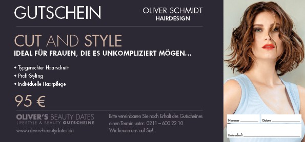 Gutschein Cut & Style by Oliver's Hair im Wert von € 95,-