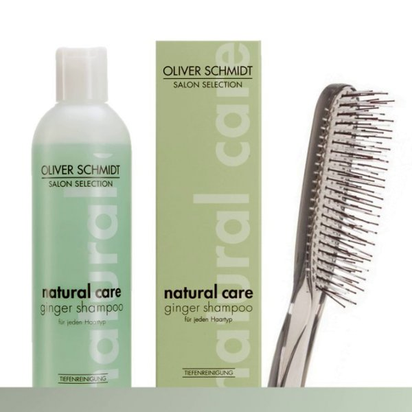 Natural Care Set Haarshampoo & Detangier Brush