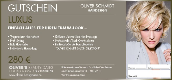Luxus Gutschein by Oliver Schmidt Hairdesign