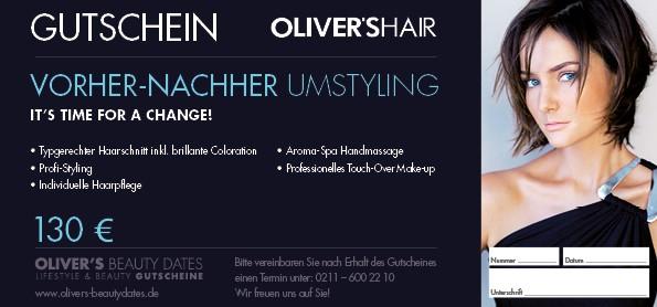 Gutschein Vorher - Nachher Umstyling by Oliver's Hair